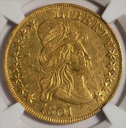 1801 $10 Capped Bust Eagle -- NGC AU58