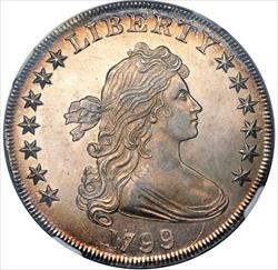 1799 Draped Bust Dollar - NGC MS63