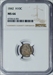 1842 Seated Half Dime -- NGC MS66