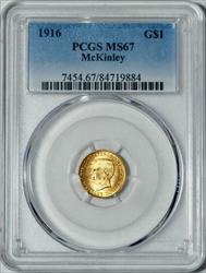 1916 G$1 McKinley -- PCGS MS67