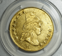 1801 $10 Capped Bust -- PCGS MS62
