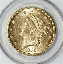 1856-S $20 Liberty SS Central America & Pinch of Gold -- PCGS MS61