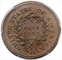 1793 Half Cent - PCGS MS64 BN