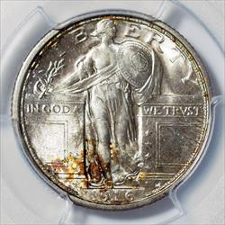 1916 Standing Liberty Quarter - MS65