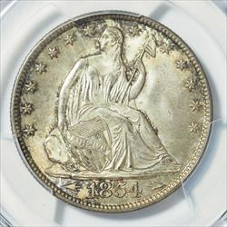 1854-O Arrows Seated Half Dollar -- PCGS MS66