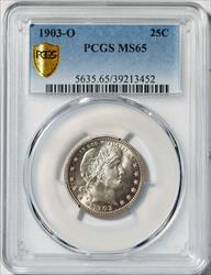 1903-O Barber Quarter -- PCGS MS65
