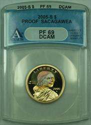 2005-S Proof Sacagawea Dollar $1 ANACS  DCAM (Toned)