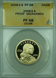2008-S Proof Sacagawea Dollar $1 ANACS  DCAM