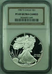 1987 S Proof American  Eagle S$1  NGC DCAM Ultra Cameo