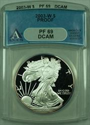 2003 W Proof American  Eagle S$1  ANACS DCAM