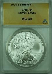 2009 American  Eagle S$1  ANACS