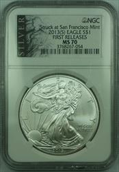 2013 S American  Eagle S$1  NGC Early Release(B) Special Label