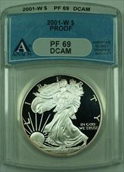 2001 W Proof American  Eagle S$1  ANACS DCAM