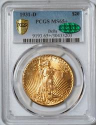 1931-D $20 Saint -- PCGS MS65+CAC