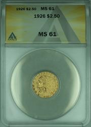1926 Indian Quarter Eagle $2.50   ANACS