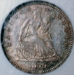 1859 Seated Liberty Half Dime -- NGC PF65