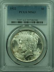 1922 Peace   $1  PCGS (29) A