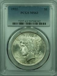1922 Peace   $1  PCGS (29) B