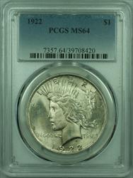 1922 Peace   $1  PCGS (29) C