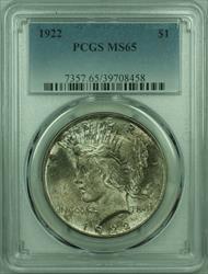 1922 Peace   $1  PCGS Toned (29) C
