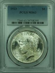 1923 Peace   $1  PCGS (29) B