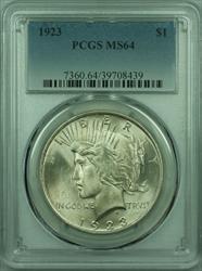 1923 Peace   $1  PCGS (29) F