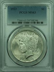 1923 Peace   $1  PCGS (29) G