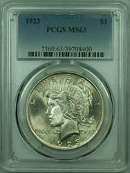 1923 Peace   $1  PCGS Better  (29) E