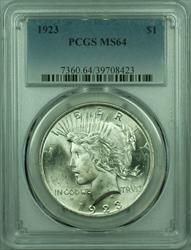 1923 Peace   $1  PCGS Better  (29) Q