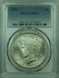 1923 Peace   $1  PCGS Better  (29) V