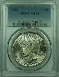 1923 Peace   $1  PCGS Lightly Toned (29) J