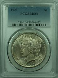 1923 Peace   $1  PCGS Lightly Toned (29) S
