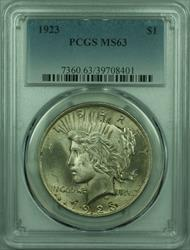 1923 Peace   $1  PCGS Lightly Toned Better  (29) F