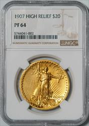 1907 HIgh Relief $20 Saint-Gaudens -- NGC PF64