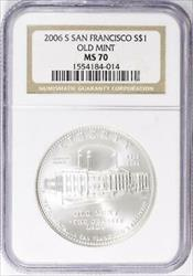 2006-S San Francisco Old Mint Silver Dollar Commemorative - NGC