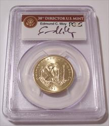 2009  Native American Dollar Missing Edge Lettering Error MS67 PCGS Moy Signed Label