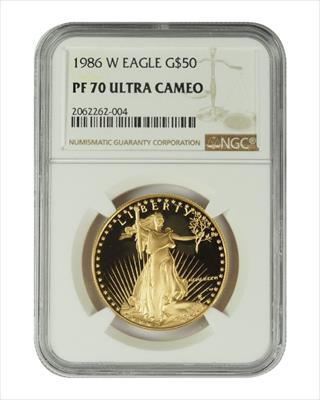 1986 1 oz U.S. Mint Proof Gold Eagle NGC PF70 Ultra Cameo