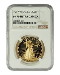 1987 1 oz U.S. Mint Proof Gold Eagle NGC PF70 Ultra Cameo