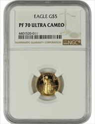 1998 1/2 oz  U.S. Mint Proof Gold Eagle NGC PF70 Ultra Cameo