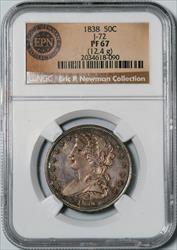1838 Capped Bust Half Dollar, J-72 -- NGC PF67