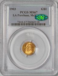 1903 LA Purchase, McKinley G$1 -- PCGS MS67 CAC