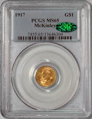 1917 McKinley G$1 -- PCGS MS65 CAC