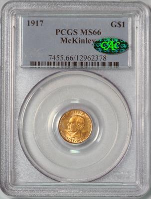 1917 McKinley G$1 -- PCGS MS66 CAC