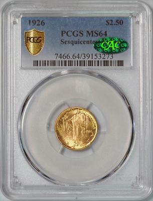 1926 Sesquicentennial $2.5 -- PCGS MS64 CAC