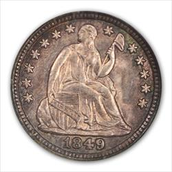 1949 SEATED H10C NGC MS66