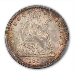 1858 SEATED H10C PCGS MS66