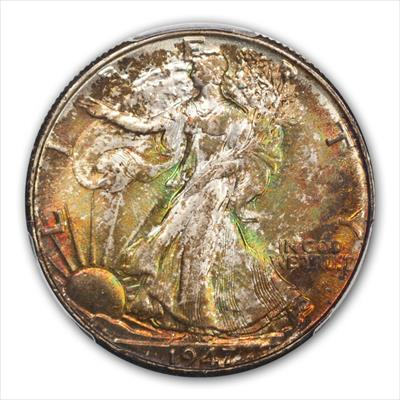 1947-D WALKING LIBERTY 50C PCGS MS67+ CAC