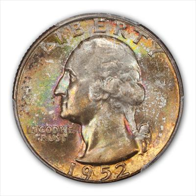1952-D  WASHINGTON 25C PCGS MS67+ CAC