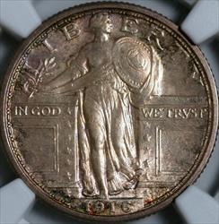 1916 Standing Liberty Quarter -- NGC MS66FH