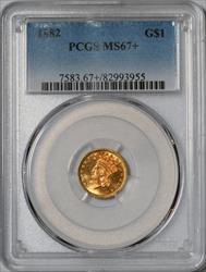 1882 G$1 -- PCGS MS67+